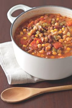 Vegetarian Chili  Your whole family will love this zesty, vegetarian recipe.