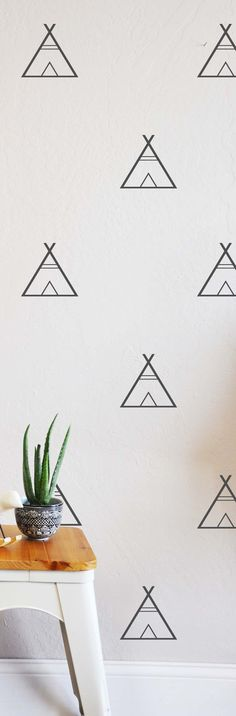 Tee Pee   WALL DECAL by TheLovelyWall on Etsy