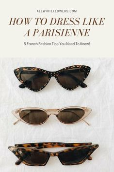 Parisian fashion influence for the avid Francophile. All the key pieces you need to channel your inner Parisian girl!