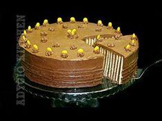 Tort fara coacere | Tort spirala de biscuiti Adygio Kitchen - YouTube Romanian Desserts, Romanian Food, Sicilian Recipes, Greek Recipes, India Food, No Cook Desserts, No Bake Cake, Cake Recipes, Biscuit