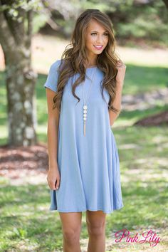 This simple and versatile dress is such a year-round essential!The soft material is perfect for any season - you can add a jacket and leggings for fall or wear with sandals for a summer look! It feat