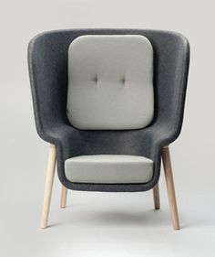 #Furniture Soft Sketch Chair Felt privacy Benjamin Hubert