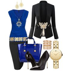 A fashion look from January 2015 featuring sleeveless tank tops, black jacket and pencil skirt. Browse and shop related looks.