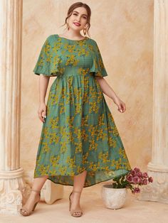 Frock Fashion, Curvy Fashion, Modest Fashion, Fashion Dresses, Types Of Dresses, Plus Size Dresses, Plus Size Outfits, Semi Formal Outfits, Casual Dresses