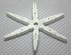 snowflake of clothespins