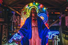 jesus with neon guns Guns, Neon Signs, Image, Weapons Guns, Revolvers, Weapons, Rifles, Firearms