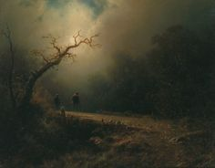 August Piepenhagen (1791-1868) - A Moonlit Night