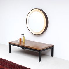 :: Lighted plywood mirror 1970s ::