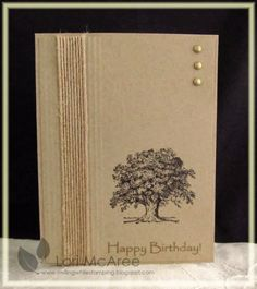 Smiling while Stamping: Queen 210 birthday card made using Stampin Up Lovely as a Tree