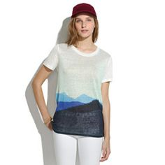 Linen Tee in Colorblock Mountains