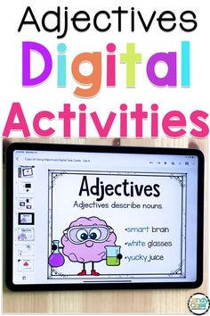 Are you looking for engaging digital grammar activities for your first grade students? These adjectives digital task cards include a video slide and student instructions so your students can work independently. Your students can practice using adjectives to describe fun pictures. These decks are based on common core standards and are perfect to use at school or with Google Classroom. Grammar Activities, First Grade Activities, Teaching First Grade, Teaching Grammar, First Grade Reading, First Grade Classroom, First Grade Math, Teaching Activities, Grammar Worksheets