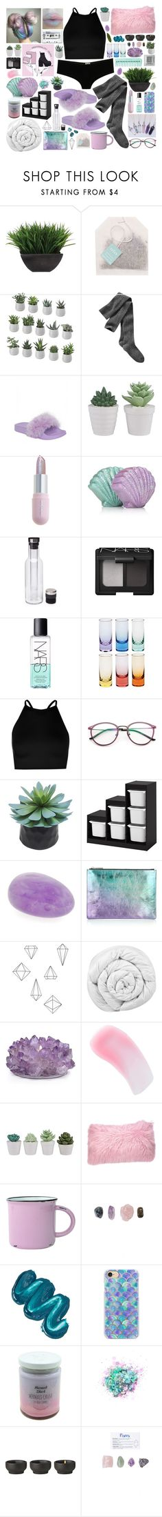 """Grimes ~ Genesis"" by wisteriablossom ❤ liked on Polyvore featuring Lux-Art Silks, Paper Source, Gap, Winky Lux, Menu, NARS Cosmetics, Moser, Boohoo, Room Essentials and Whistles"