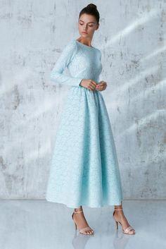 Платье «Аэлита» миди, Голубое кружево, Цена— 29990 рублей