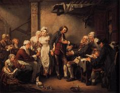 El contrato de boda - Jean-Baptiste Greuze (1725-1805, France)