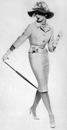 chic suit, 1959