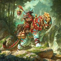 Pandaren Monk from World of Warcraft, digital drawing by artist and illustrator Veli Nystrom World Of Warcraft, Warcraft Art, Mythical Creatures Art, Fantasy Creatures, Fantasy World, Dark Fantasy, Final Fantasy, Wow Monk, Fantasy Character Design