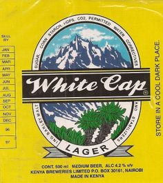 White Cap Beer Lager Label Kenya