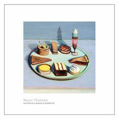 Wayne Thiebaud  Dessert Tray, 1992-94.