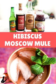 This Hibiscus Mule is a little bit fruity, a touch floral and totally refreshing! This refreshing vodka cocktail is easy to make and a great way to welcome warmer weather. If you're looking for a unique variation of Moscow Mules, this version with hibiscus liqueur and hibiscus juice will quench your thirst. #hibiscus #hibiscusmule #moscowmule #easycocktails #summercocktail Easy Cocktails, Refreshing Cocktails, Summer Cocktails, Cocktail Recipes, Easy Drinks To Make, Easy Mixed Drinks, Spring Cupcakes, Mule Recipe, Vodka Cocktail