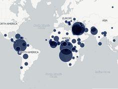 Brasil tem 8.731 refugiados de 79 nacionalidades (Foto: Arte/G1)