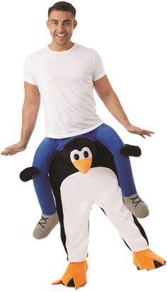 612ea3945c01 Adult Lift Me Up Penguin Fancy Dress Costume