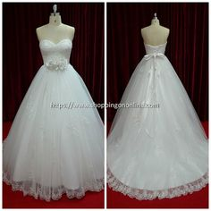 Unique Wedding Dress - Illusion Flower Sash $499.99 (was $624.99) Click here to see more details http://shoppingononline.com/lace-wedding-dresses/unique-wedding-dress-illusion-flower-sash.html #UniqueWeddingDress #FlowerSash #StraplessWeddingDress #WeddingDress