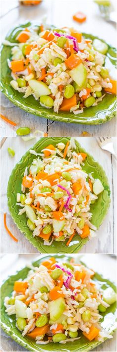 Skinny Mayo-Less Cabbage Salad (vegan, GF) - This healthy cabbage salad/coleslaw isn't coated with gobs of mayo  you won't miss it!