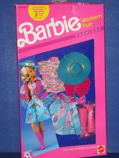 Barbie Doll WESTERN FUN Fashions Outfit 1989 MIB! Mattel