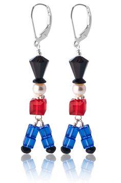 Swarovski Crystal Toy Soldier Earrings