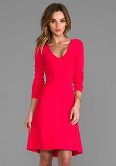 BCBGMAXAZRIA Sydney Dress in Red Berry