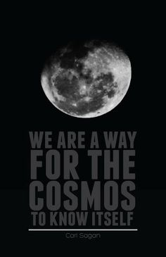"""We are a way for the Cosmos to know itself."" -Carl Sagan"