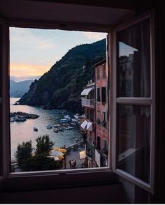 Perfect holiday sunset views in Vernazza, Italy