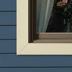 Insulated vinyl siding and window trim