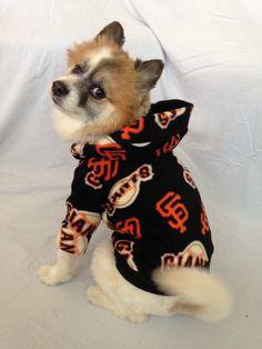11c25a8ebd9 SF Giants Dog Hoodie Sweater by LizzyAndMeekoShop on Etsy Dog Hoodie, Sweater  Hoodie, Giant