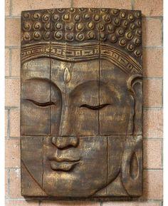 Buddha Wall Panel   Large Buddha Panel   Buddha Wall Decor