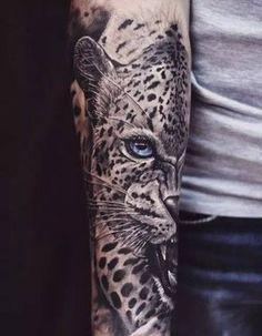 Right Arm Jaguar Head Tattoo