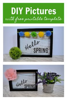 These pictures use a free download, a dollar store frame, and a few simple DIY embellishments. Perfect for Spring. #Spring #DIY #DIYHomeDecor #DIYSpringDecor #DollarStoreCrafts #DollarTreeCrafts #FreeDownload Simple Diy, Easy Diy, Craft Tutorials, Diy Projects, Spring Pictures, Dollar Tree Crafts, Spring Has Sprung, Hello Spring, Dollar Stores