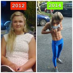 20 Female Weight Loss Before And Afters Ending In Ripped 6 Pack Abs! #weightloss