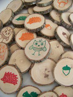 Woodland Animal Memory Game $22 #etsy
