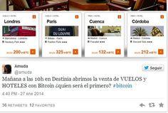 Ya podemos pagar viajes y hoteles con Bitcoins en Destinia