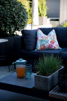Patio Lounge - In Good Company Outdoor Sofa, Outdoor Furniture, Outdoor Decor, Good Company, Lounge, Patio, Throw Pillows, Bed, Projects