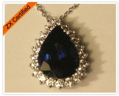 Classic Blue Sapphire and Diamond Necklace