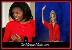 The Ladies in Red >> There is no comparison between these two ladies in red. Only one of them has what it takes to fill the honorable position of FIRST LADY....and the other one is a lying, racist, America hating MOOCH, who has been stickin' it to the whitey!