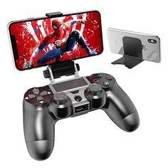 OIVO Support Telephone pour Manette PS4 avec Ajustable Support Smartphone Support Clip Téléphone pour PS4 Contrôleur avec Câble OTG pour Samsung Sony Hauwei HTC LG