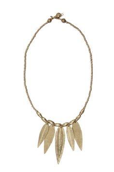 Almaz Gold Multi-Leaf Short Necklace by Raven + Lily #artisanmade #fairtrade