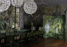 Claire Basler artist home Chateau Beauvoir Art Et Design, Design Salon, Dream Studio, Home Studio, Garden Studio, Claire Basler, French Chateau Homes, Mural Floral, Flower Artists