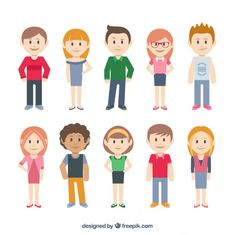 Casual characters Free Vector