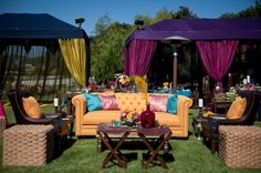 bold color, bold tenting