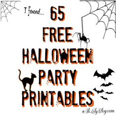 65 Free Halloween Printables brought to you by Ali Lily Halloween Birthday, Holidays Halloween, Halloween Diy, Happy Halloween, Halloween Bingo, Halloween Printable, Halloween Stuff, Birthday Ideas, Halloween Projects