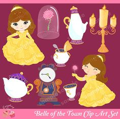 Belle of the town Clip Art Set